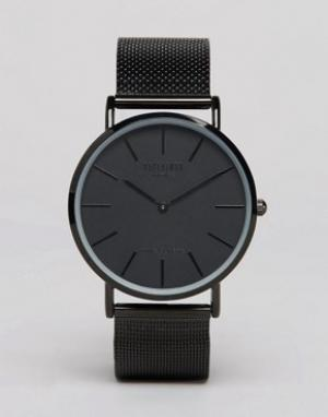 Reclaimed Vintage Черные классические часы с сетчатым браслетом Inspir. Цвет: черный