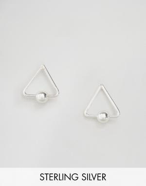 Kingsley Ryan Серебряные серьги-гвоздики. Цвет: серебряный