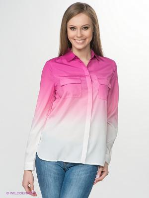 Рубашка Jeanswest. Цвет: фуксия, белый, бледно-розовый