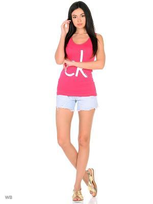 Майка спортивная Calvin Klein. Цвет: розовый