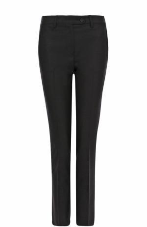 Укороченные шерстяные брюки прямого кроя Kiton. Цвет: темно-серый