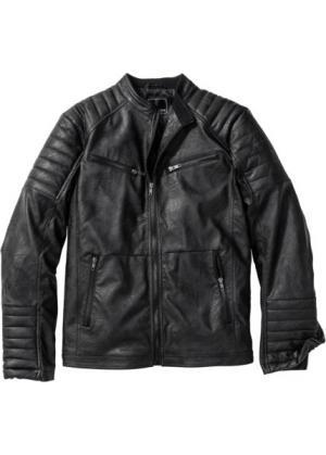 Куртка из искусственной кожи (черный) bonprix. Цвет: черный
