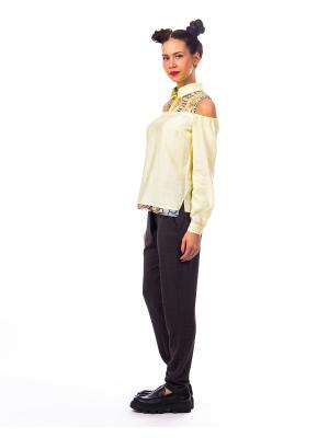 Блуза D.VA. Цвет: светло-желтый