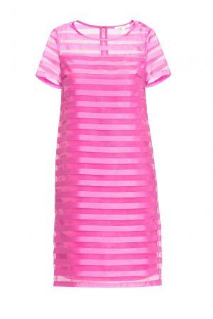 Платье из вискозы с шелком 163229 Anna Verdi. Цвет: розовый
