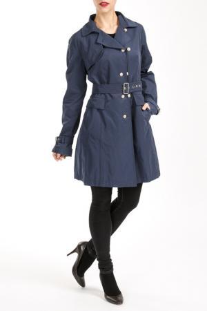 Пальто Salco. Цвет: синий