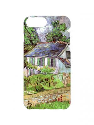 Чехол для iPhone 7Plus Ван Гог - Дом в Авере Арт. 7Plus-173 Chocopony. Цвет: голубой, зеленый