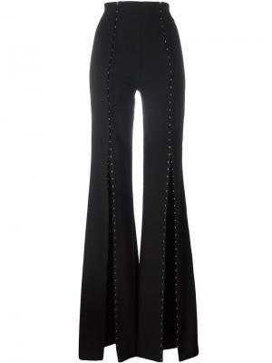 Расклешенные брюки Snap Murmur. Цвет: чёрный