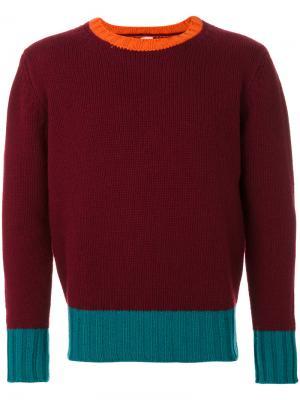 Вязаный свитер Doppiaa. Цвет: розовый и фиолетовый