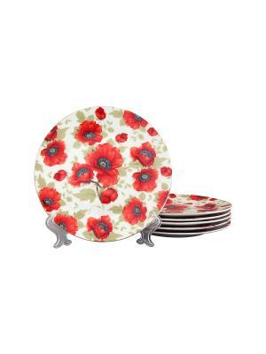 Набор тарелок Маки Elan Gallery. Цвет: красный, белый