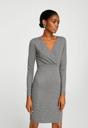 Платье Mango. Цвет: серый