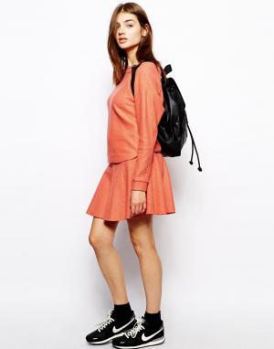 BZR Оранжевая шерстяная мини-юбка. Цвет: оранжевый