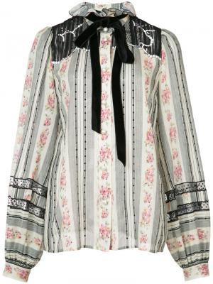Блуза с бантом в викторианском стиле Marc Jacobs. Цвет: белый