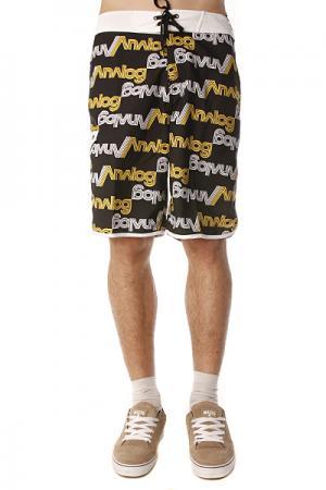 Пляжные мужские шорты  Payroll Brdshort True Black Analog. Цвет: черный,желтый