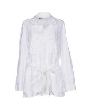 Легкое пальто EUROPEAN CULTURE. Цвет: белый