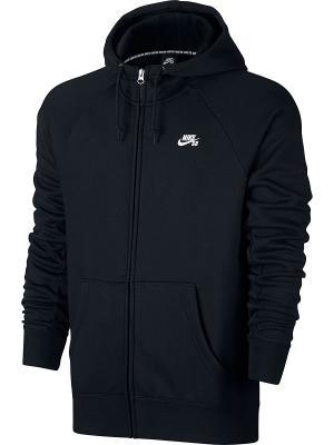 Толстовка SB ICON FZ HOODIE Nike. Цвет: черный, белый