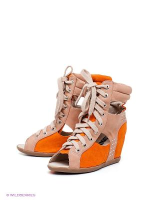 Ботинки KEDDO. Цвет: бежевый, оранжевый