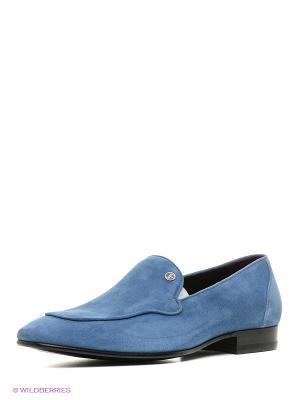 Мокасины LUIGI FERRO. Цвет: светло-голубой