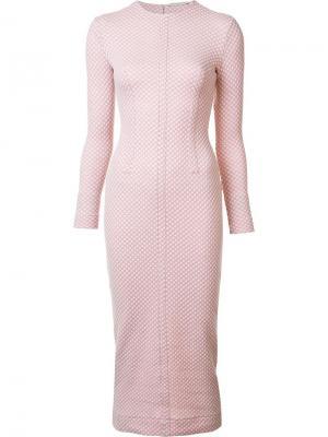 Платье Jacqueline Emilia Wickstead. Цвет: розовый и фиолетовый