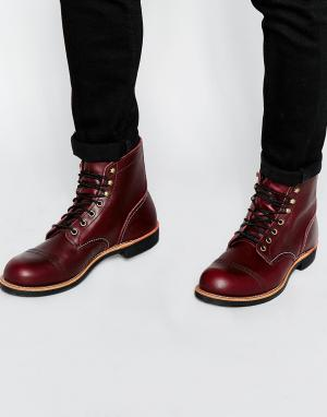 Red Wing Кожаные ботинки Iron Ranger. Цвет: красный