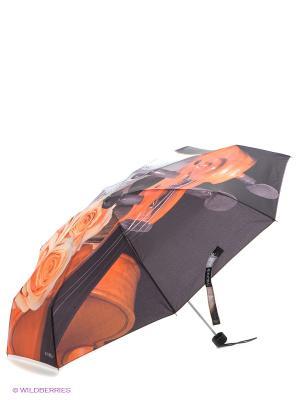 Зонт Flioraj. Цвет: темно-коричневый, оранжевый