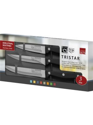 Набор ножей серии STAR TRY-STAR, 3 предмета в наборе Koch Systeme. Цвет: черный, серебристый