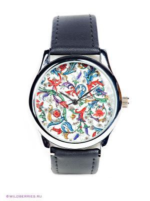 Часы Mitya Veselkov. Цвет: черный, голубой, красный, белый