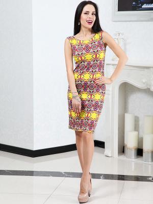 Платье Lussotico. Цвет: желтый, черный, синий, бирюзовый, фуксия