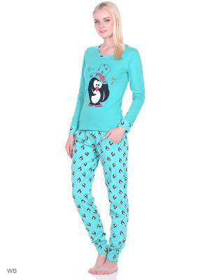 Пижама женская NICOLETTA. Цвет: зеленый