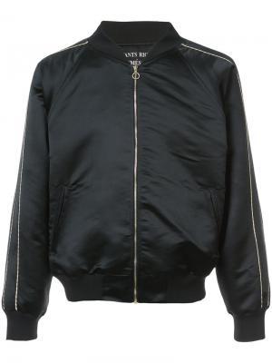Куртка-бомбер с золотистыми деталями Enfants Riches Deprimes. Цвет: чёрный
