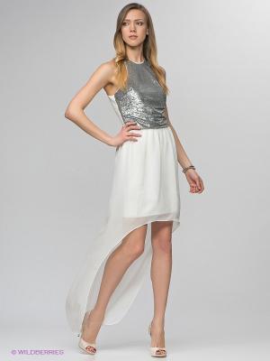Платье Camelot. Цвет: белый, серебристый