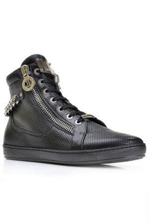 Высокие ботинки на шнурках Loriblu. Цвет: черный