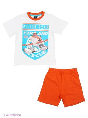 Пижама Sun City. Цвет: белый, оранжевый