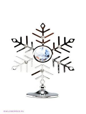 Миниатюра Снежинка CRYSTOCRAFT. Цвет: серебристый, голубой