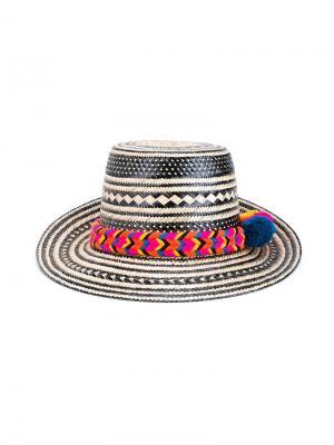 Шляпа с помпоном Yosuzi. Цвет: многоцветный