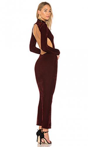 Макси платье susan Ronny Kobo. Цвет: вишня