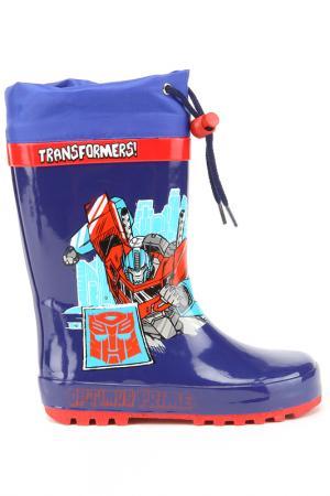 Резиновые сапожки Transformers. Цвет: синие