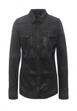 Рубашка джинсовая Gas. Цвет: черный
