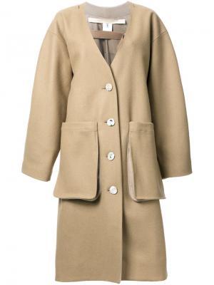 Пальто Slump Eckhaus Latta. Цвет: коричневый