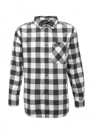 Рубашка Jack Wolfskin. Цвет: черно-белый