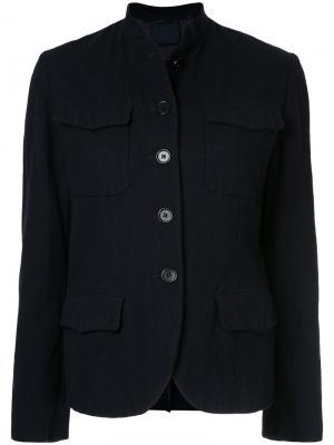 Приталенный пиджак на пуговицах Aspesi. Цвет: чёрный
