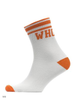 Носки Befree. Цвет: оранжевый