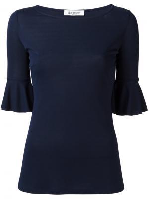 Блузка с отделкой в складку Dondup. Цвет: синий