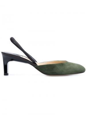 Туфли с ремешком на пятке Paul Andrew. Цвет: зелёный
