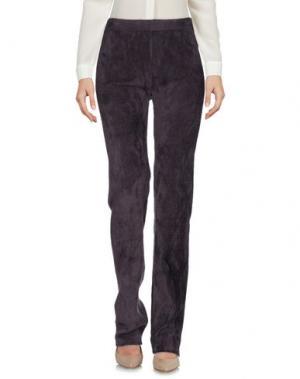 Повседневные брюки ROBERTO COLLINA. Цвет: темно-фиолетовый