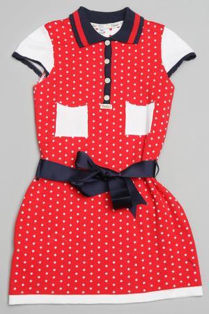 Платье Trasluz. Цвет: красный