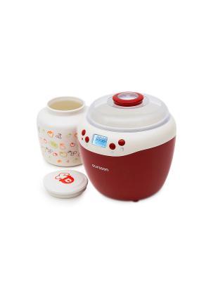Йогуртница-ферментатор OURSSON. Цвет: красный