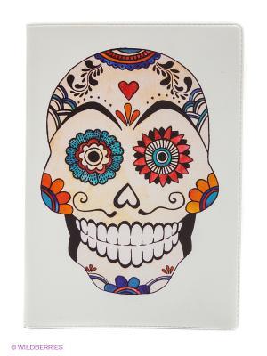 Обложка для автодокументов Мексиканский череп Mitya Veselkov. Цвет: белый, черный, красный
