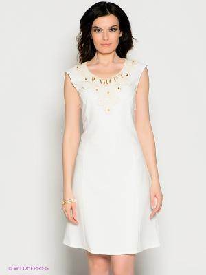 Платье Valeria Lux. Цвет: молочный