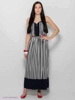 Платье Lisa Campione. Цвет: темно-синий, белый