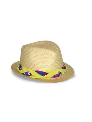 Шляпа Saha. Цвет: бежевый, светло-желтый, синий